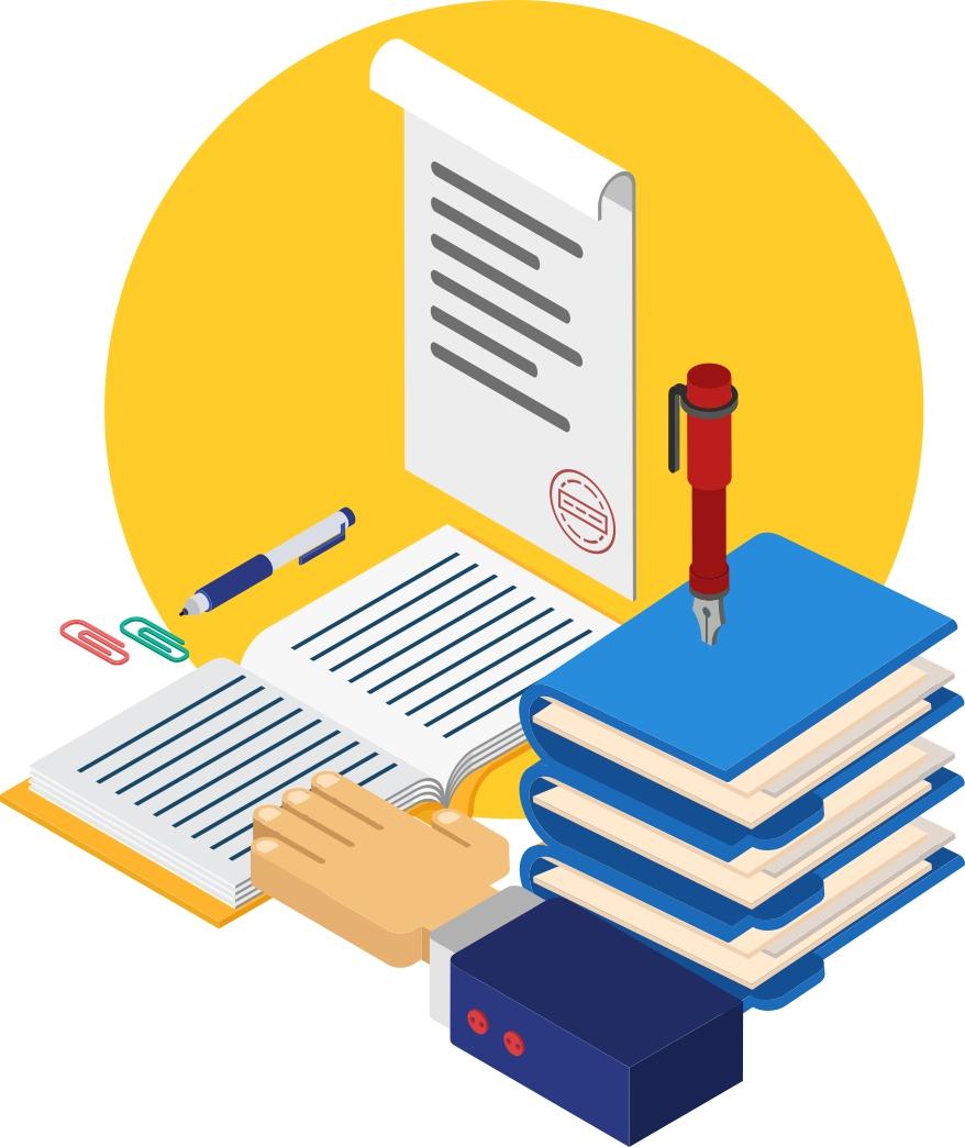 Ilustrasi akta notaris. Selama Covid-19, notaris harus tetap mengikuti kode etik dalam membuat akta. Ilustrator: BAS