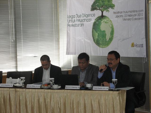 Pelatihan Hukumonline 2012: Legal Due Diligence untuk Perusahaan Perkebunan