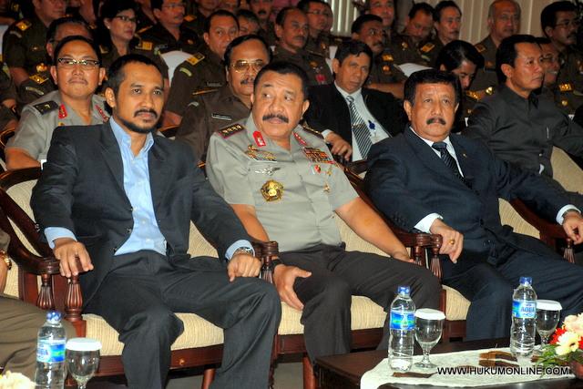 Pimpinan KPK, Kapolri dan Jaksa Agung sepakat optimalisasikan pemberantasan tindak pidana korupsi.