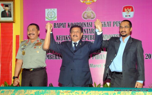 Tiga Pimpinan Penegak Hukum janjikan Kerjasama yang dinamis
