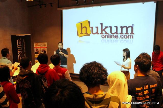 Acara Forum Melek Hukum kerjasama Hukumonline dan Kaskus