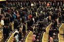 Anggota Dewan yang hadir dalam rangka pidato kenegaraan Presiden SBY