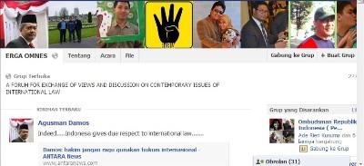 Erga Omnes: Forum Diskusi Hukum Internasional di Dunia Maya