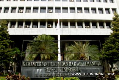 Gedung Kemenkumham. Foto: SGP