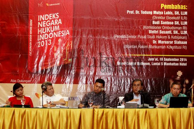 """Diskusi dan Peluncuran Buku """"Indeks Negara Hukum Indonesia 2013"""""""