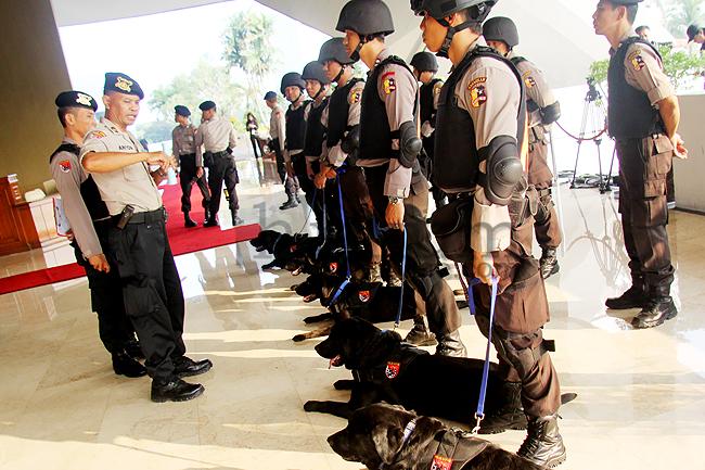 Polisi Satwa Gelar Pemeriksaan Ruang Nusantara I