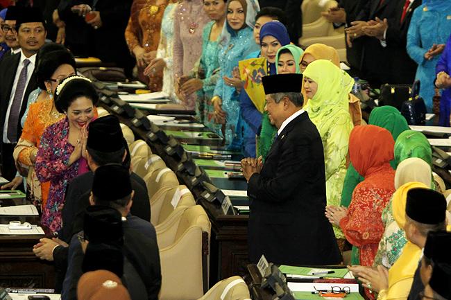 Presiden SBY Hadiri Pelantikan Anggota DPR 2014-2019