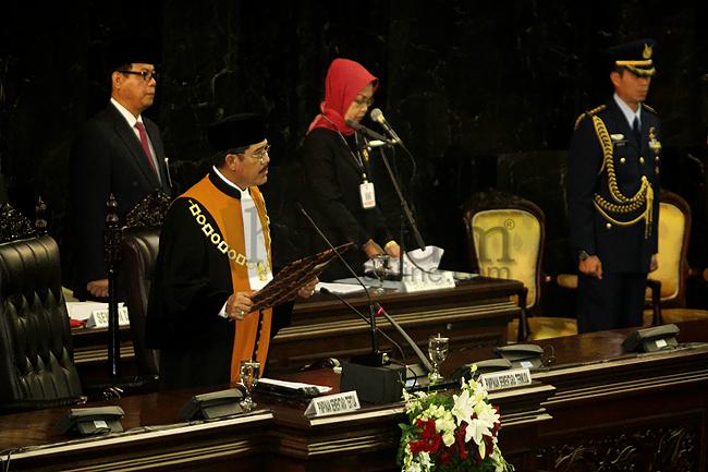Pengambilan Sumpah Anggota MPR, DPR, dan DPD