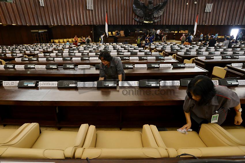 Gedung MPR Bersiap Jelang Pelantikan Presiden