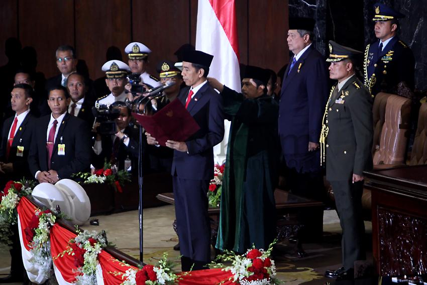 Pelantikan Jokowi dan Jusuf Kalla