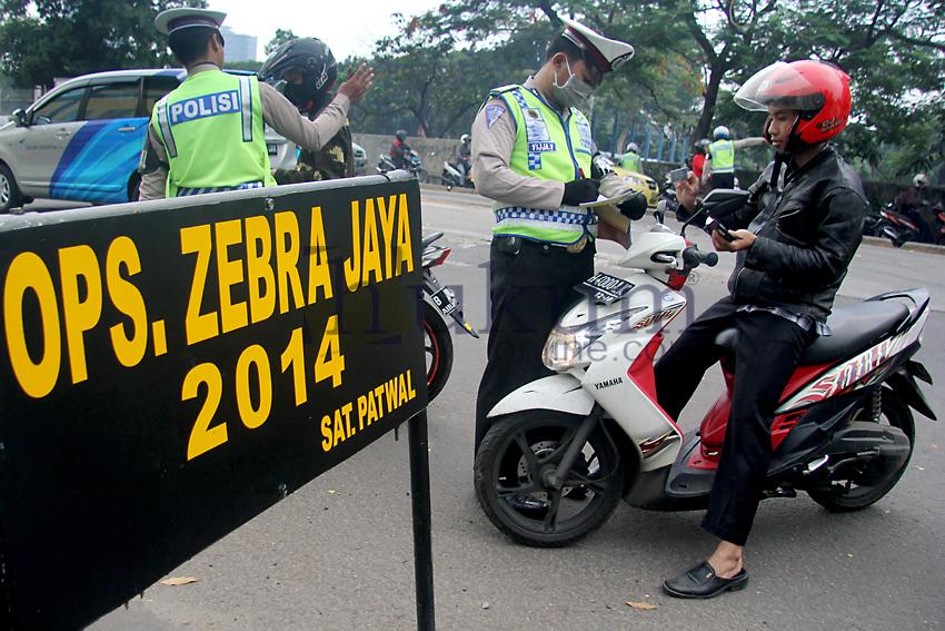 Polda Metro Jaya Gelar Operasi Zebra 2014