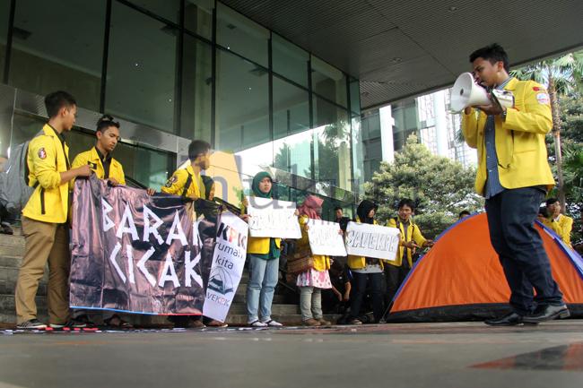 Dukung KPK, Aktivis BEM UI Dirikan Tenda