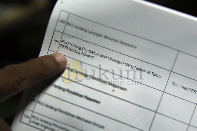 RUU Advokat Kembali Masuk Prolegnas Usulan DPR