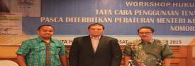 Moderator dan Narasumber Workshop Hukumonline 2015; Tata Cara Penggunaan Tenaga Kerja Asing Pasca Diterbitkan Peraturan Menteri Ketenagakerjaan Nomor 16 Tahun 2015