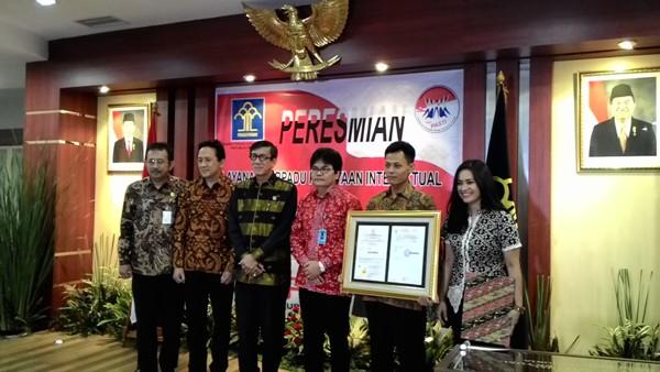 Acara layanan terpadu kekayaan intelektual di Jakarta. Foto: NNP