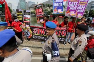 Buruh Peringati International Worker's Memorial Day