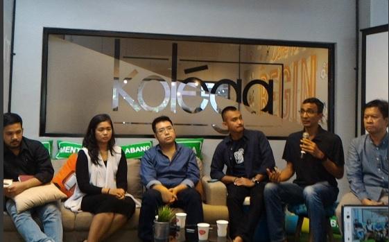 Acara LIKE ILUNI FHUI tentang aspek pembiayaan bisnis start up, Jakarta, Sabtu (14/5). Foto: Twitter Easybiz