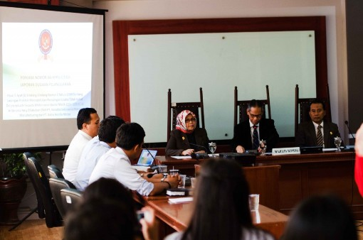 Sidang dugaan pelanggaran UU No. 5 Tahun 1999 di KPPU.  Foto: KPPU (www.kppu.go.id)