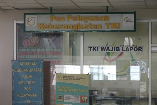 Pos untuk layanan TKI. Foto: MYS