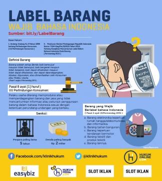 Label Barang Wajib Berbahasa Indonesia