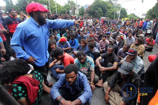 Ilustrasi aksi unjuk rasa mahasiswa Papua di Jakarta. Foto: RES