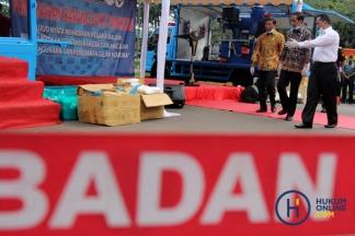 Presiden Jokowi Pimpin Pemusnahan Narkoba