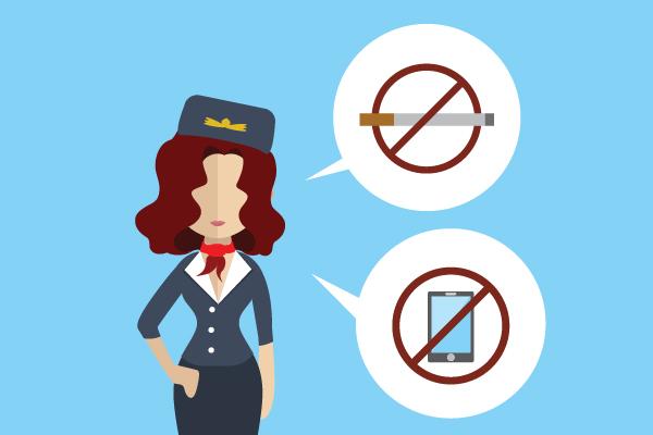 Sanksi Bagi Orang yang Mengaktifkan Peralatan Elektronik di Pesawat