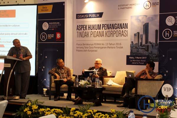 Diskusi Publik Yang Diselenggarakan Hukumonline dan AHP di Hotel Le Meredien Jakarta, Selasa (1/3/2017). Foto : RES.