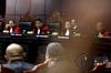 Ketua Mahkamah Konstitusi Arief Hidayat (tengah) dan para Hakim Konstitusi (dari kiri) Suhartoyo, Maria Farida Indrati, dan Wahiduddin Adams memimpin sidang panel 1 perkara perselisihan hasil pemilu (PHP) kepala daerah 2017 di gedung Mahkamah Konstitusi, Jakarta, Kamis (16/3).