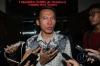 Suasana sidang pembacaan putusan kasus keberatan yang diajukan oleh Alfamart terhadap putusan Komisi Informasi Pusat (KIP) di Pengadilan Negeri Tangerang, Selasa (18/4).