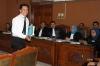 Sidang tersebut beragenda mendengarkan keterangan ahli Hukum Tata Negara Yusril Ihza Mahendra.