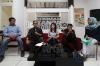 Dari Kiri ke Kanan, Abdullah Dahlan (Koordinator Divisi Jaringan ICW), Febri Diansyah (Juru Bicara KPK), Grace Natalie (Ketua Umum PSI) dan Virgo Gohardi (Wakil Direktur Madrasah Anti Korupsi PP Muhammadiyah) saat menjadi pembicara di acara diskusi yang diadakan Indonesia Coruption Watch (ICW), Jakarta, Senin (15/5).