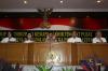 Kapolri Jenderal Tito Karnavian didampingi Wakapolri Komjen Pol Syafruddin, Menteri Kesehatan Nila F Moeloek, Menteri Perhubungan Budi Karya Sumadi, dan Menteri Pekerjaan Umum dan Perumahan Rakyat (PUPR) Basuki Hadimuljono saat memimpin rapat koordinasi kesiapan akhir tingkat pusat Operasi Ramadaniya 2017 di Jakarta, Kamis (12/6).