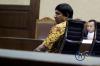Ketua Angkatan Muda Partai Golkar (AMPG) Fahd El Fouz menjalani sidang perdana sebagai terdakwa di Pengadilan Tipikor Jakarta, Kamis (13/7).