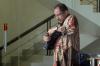 Mantan anggota Komisi II DPR Djamal Aziz berjalan keluar gedung KPK seusai diperiksa di Jakarta, Kamis (13/7).