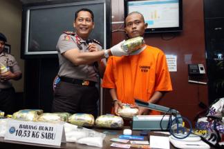 BNN Ungkap Jaringan Internasional Narkotika 10 Kg Sabu