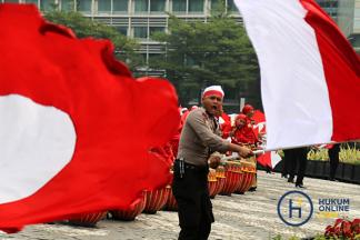 Polisi Lakukan Aksi Merah Putih Jelang Hari Kemerdekaan