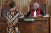 Hakim tunggal Cepi Iskandar memimpin sidang perdana gugatan praperadilan yang diajukan Ketua Umum Partai Golkar Setya Novanto di PN Jakarta Selatan, Selasa (12/9).