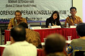 HKHPM Gelar Seminar Fungsi Audit Forensik dan Peran Konsultan Hukum