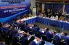 Wakil Ketua KPK Basaria Panjaitan, Ketua Umum Partai Demokrat Susilo Bambang Yudhoyono didampingi Sekjen Partai Demokrat Hinca IP Pandjaitan XIII saat melakukan diskusi di Kantor DPP Partai Demokrat di Jakarta, Rabu (13/9).