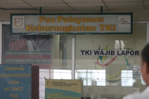 Pos pelayanan buruh migran di bandara. Foto: MYS