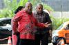 Gubernur Papua Lukas Enembe tiba di gedung KPK di Jakarta, Rabu (4/10).