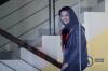 Bupati Kutai Kartanegara Rita Widyasari bersiap menjalani pemeriksaan di Gedung Merah Putih KPK di Jakarta, Jumat (6/10).