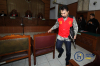 Mantan Ketua Persatuan Artis Film Indonesia (PARFI), Gatot Brajamusti bersiap menjalani sidang dakwaan di Pengadilan Negeri Jakarta Selatan, Jakarta, Selasa (10/10).