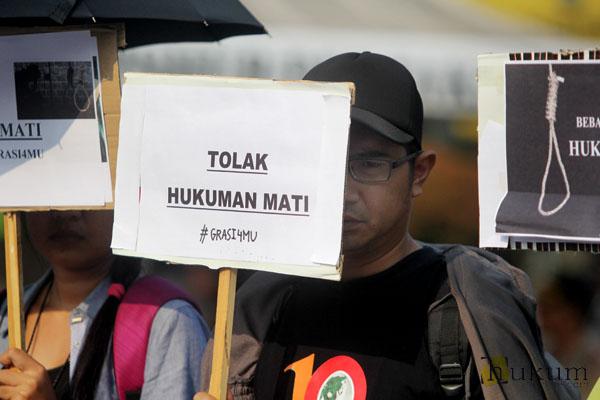 Salah satu aksi tolak hukuman mati di Jakarta. Foto: HOL