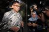 Kepala Staf Ketua Umum PSSI Iwan Budianto usai diperiksa penyidik KPK di gedung KPK di Jakarta, Rabu (11/10).