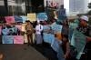 Kiai Nahdlatul Ulama (NU) dan pondok pesantren dari tujuh provinsi menggelar aksi dukung KPK di Jakarta, Kamis (12/10).