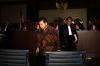 Sidang tersebut beragenda mendengarkan sejumlah keterangan saksi yang dihadirkan Jaksa Penuntut Umum KPK salah satunya Ketua DPR Setya Novanto.