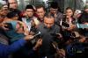 Ketua Mahkamah Kehormatan Dewan (MKD) DPR Sufmi Dasco Ahmad,Wakil Ketua MKD, Syarifuddin Suding (kedua kiri) serta dua Anggota MKD Agung Widiantoro (kiri) dan Maman Imanul Haq (kanan) usai memeriksa tahanan KPK Setya Novanto di gedung KPK, di Jakarta, Kamis (30/11).