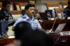 Calon Panglima TNI Marsekal TNI Hadi Tjahjanto menjalani uji kelayakan dan kepatutan calon Panglima TNI di ruang rapat Komisi I, Gedung Nusantara II, Kompleks Parlemen Senayan, Jakarta, Rabu (6/12).